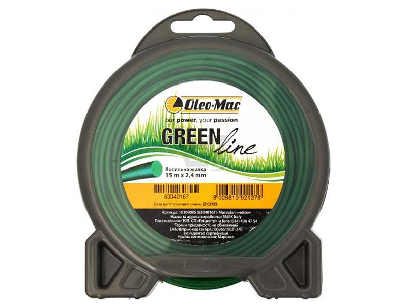 Жилка косильная OLEO-Mac Greenline 2,4 х 15 м