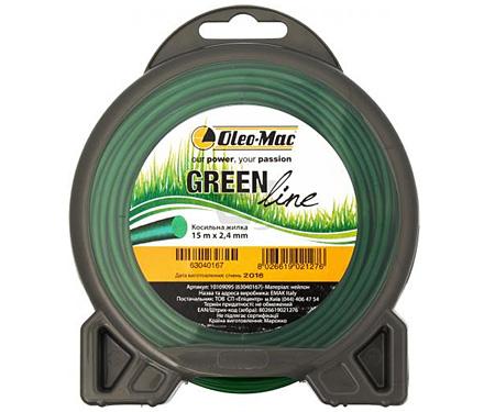 Жилка косильная OLEO-Mac Greenline 2,0 х 15 м